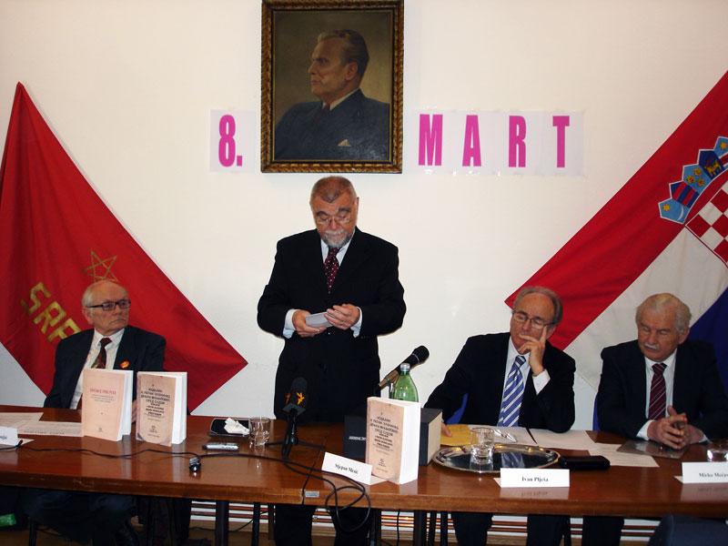 S lijeva na desno: Božidar Dugonjić, Stjepan Mesić, Ivan Plješa i Mirko Mećava